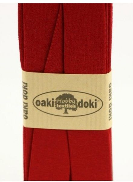 bordeaux - biais tricot 3 meter