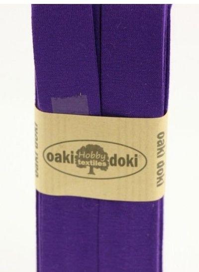 dark purple - biais jersey  3 meter