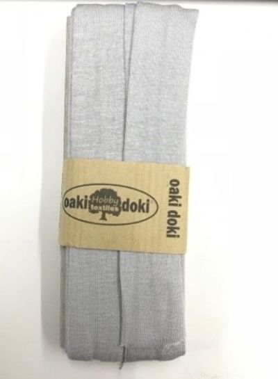 lichtgrijs -  biais tricot 3 meter