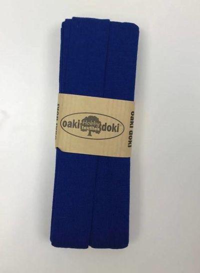 kobalt - tricot biais 3 meter