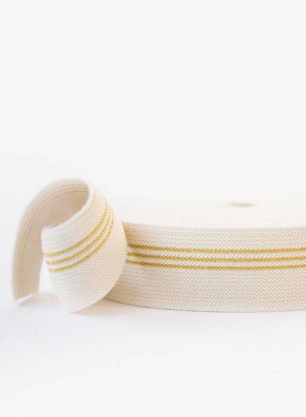 elastische tailleband 3 gouden lijnen - SYAS