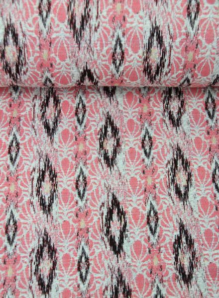 pink spring breeze - woven jacquard