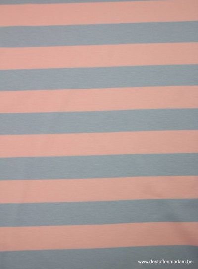 salmon large stripes 3 cm - jersey