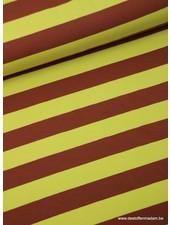 bruine brede strepen 3cm - tricot
