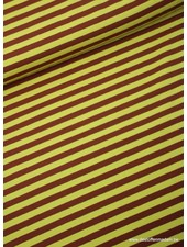bruine strepen 1cm - tricot