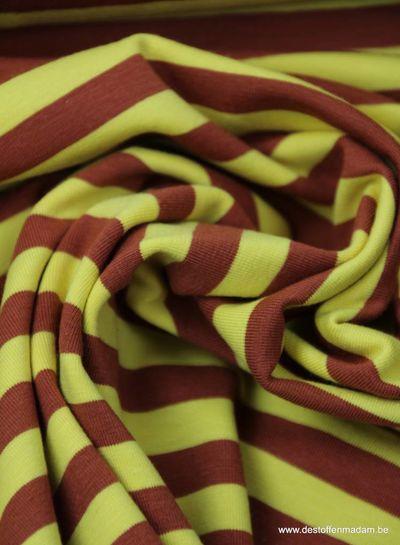 brown stripes 1 cm- jersey