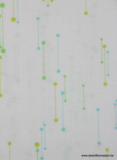 blauwe staafjes - katoen