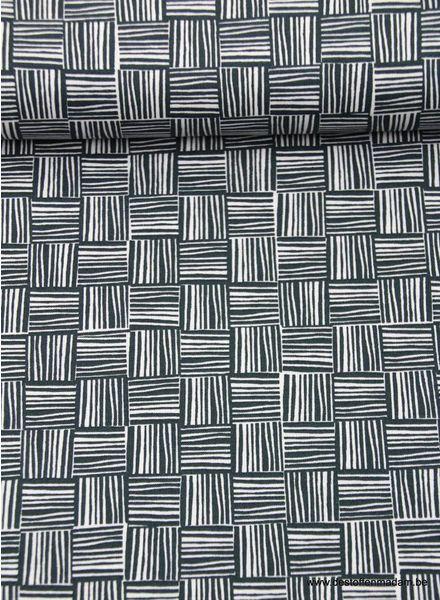 striped squares - cotton