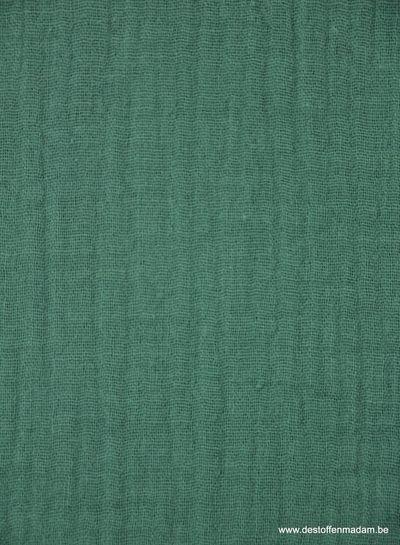dark green tetra fabric - double gauze