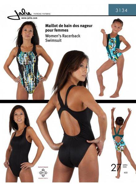 zwempak/badpak patroon - racerback - Jalie 3134