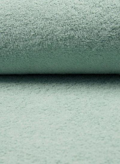 dusty mint terry fabric