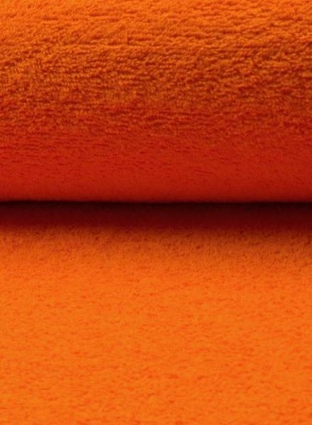 orange terry fabric
