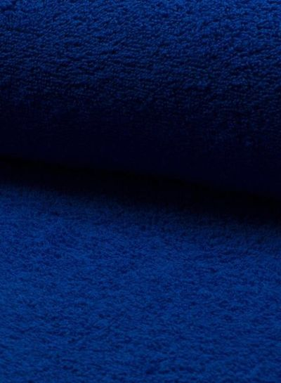 royal blue terry fabric