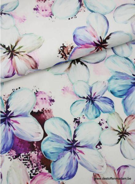 lente bloemen - fluweel velvet