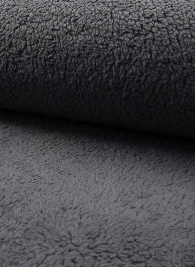 dark grey teddy fleece