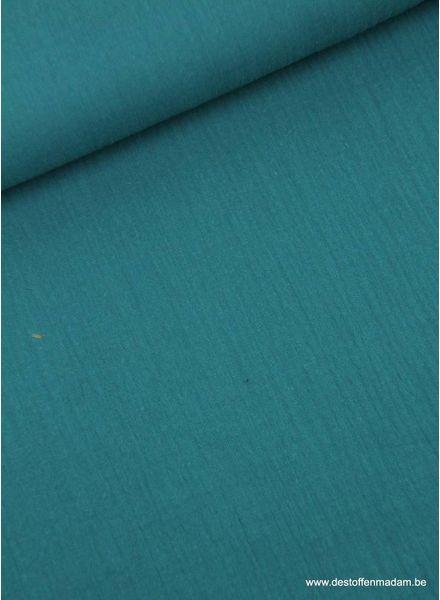 petrolblauwe effen tetra - double gauze