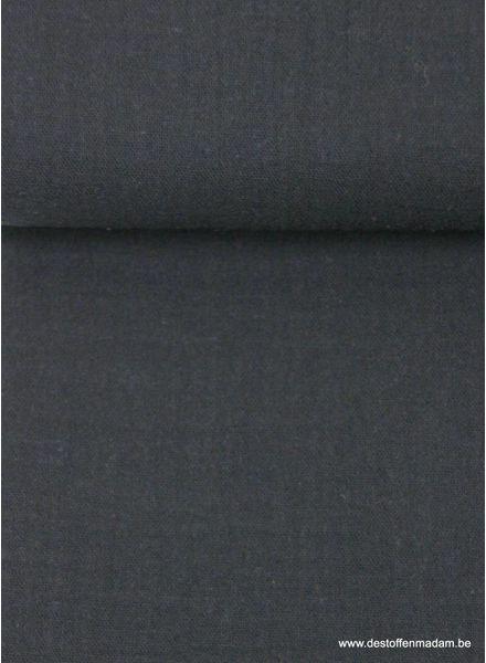 zwarte effen tetra - double gauze