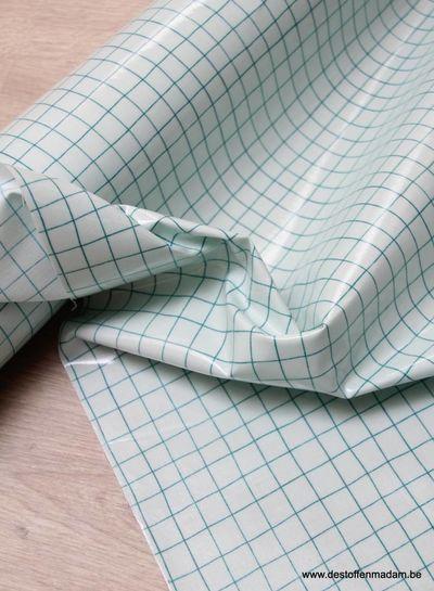 groene grid - gelamineerd katoen