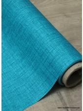 turquoise sketch - laminated cotton