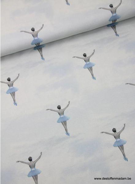 klassieke ballerina's blauw - tricot