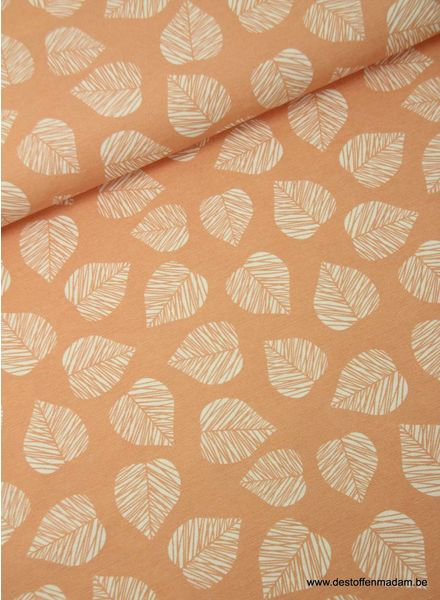 leaves pink - deco fabric