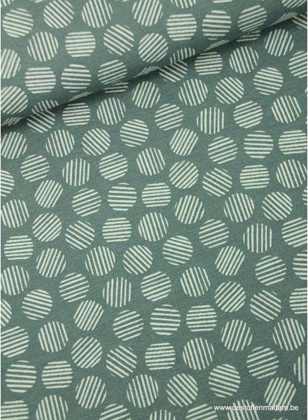 striped circles grey - deco fabric