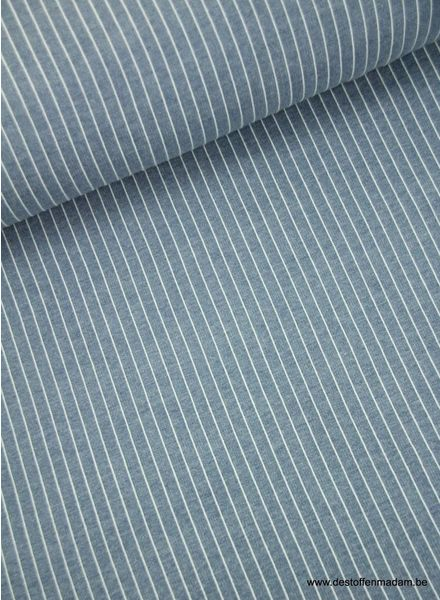 vertical stripes denim blue - modal french terry