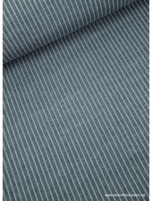 vertical stripes navy - modal french terry