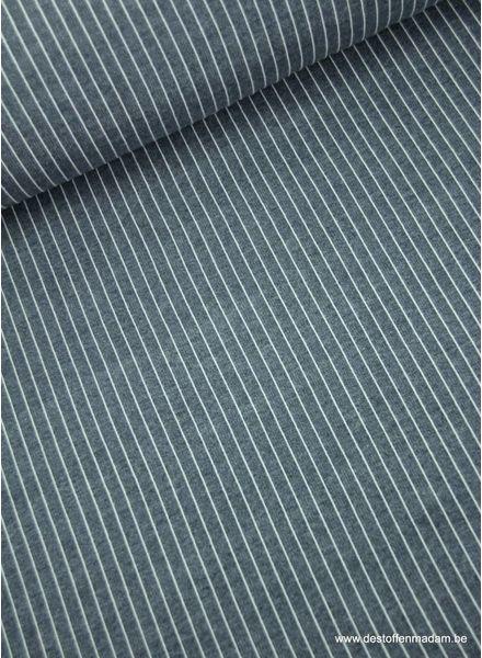 verticale streepjes marineblauw - modal french terry