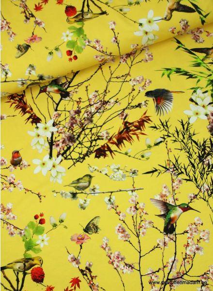 japanse vogeltjes geel - tricot