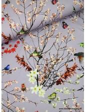 japanse vogeltjes lila - tricot