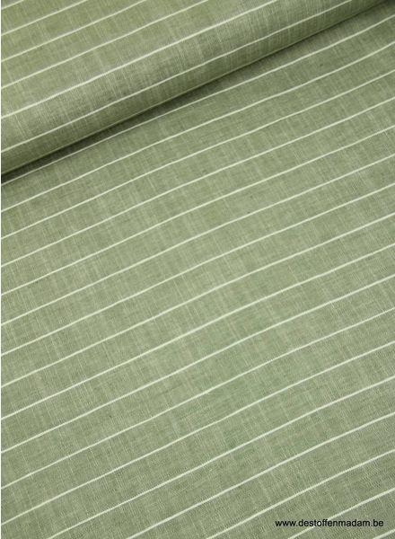 stripes khaki - linen cotton