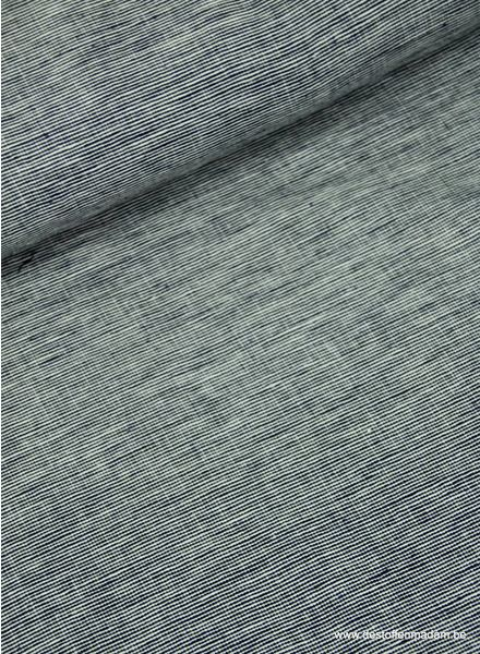 Italian woven denim navy - washed linen mix