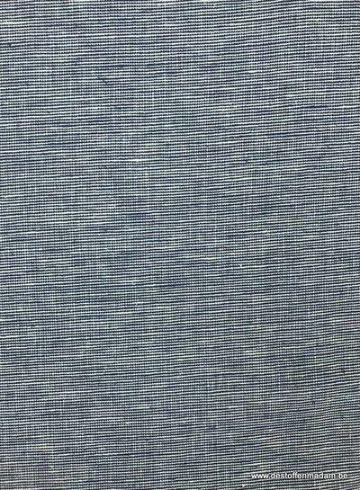 Italiaans geweven denimblauw  - gewassen  linnen mix