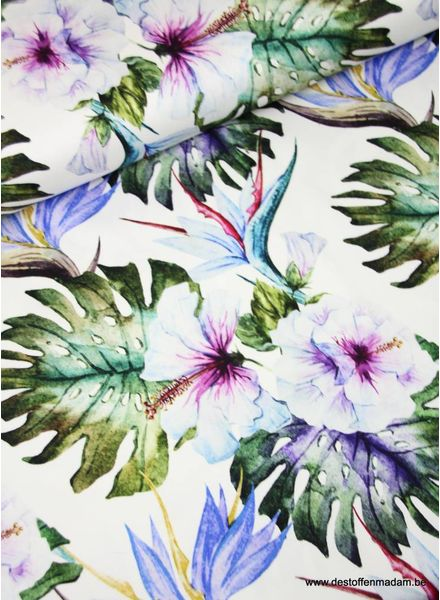 summer leaves - stretch cotton