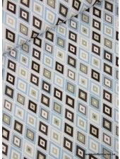 retro blue - polyester fabric
