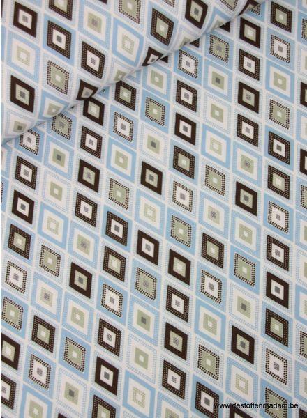 retro blauw - soepelvallende stof