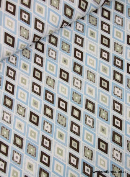 retro blue - polyester fabric