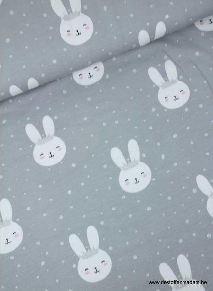 sprankelend konijntje grijs/blauw - tricot