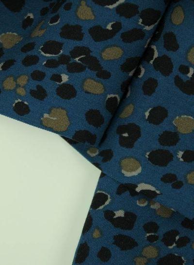 spots blue - viscose twill