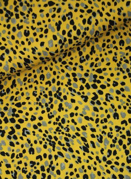 spots ochre - viscose twill