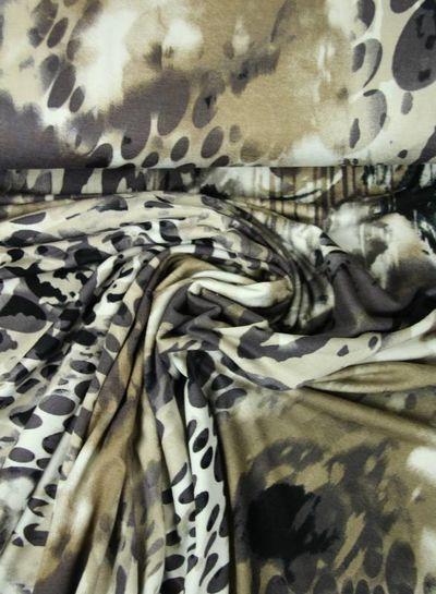 bruin klassieke print - viscose tricot