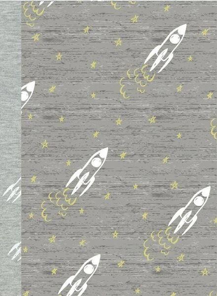 GLOW IN THE DARK jersey - rocket ship grey