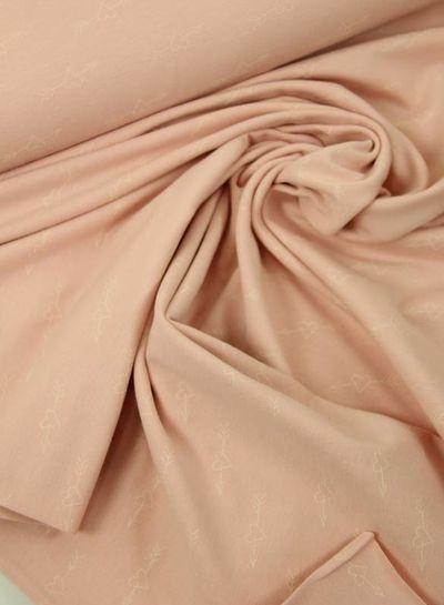 GLOW IN THE DARK jersey - hartjes roze