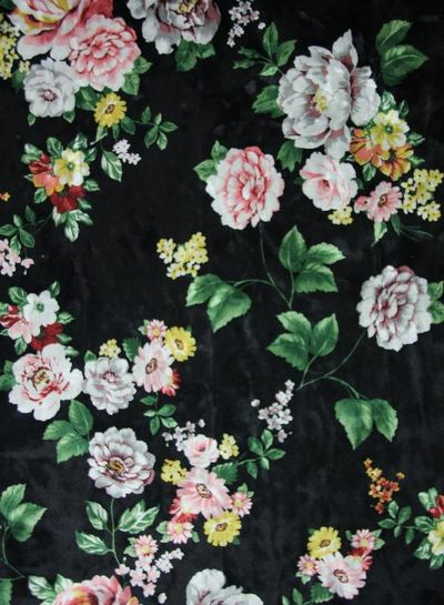 flowers and leaves - velvet
