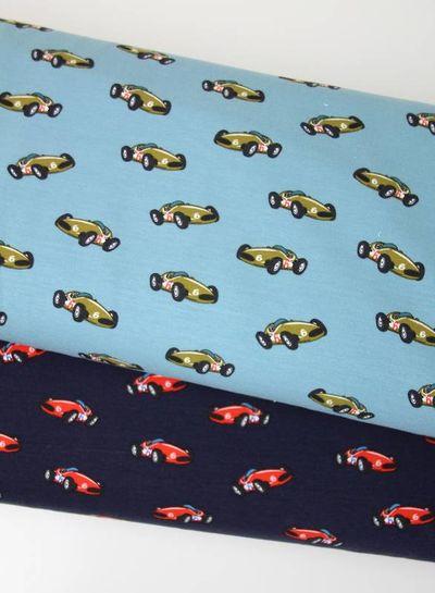 race car dark blue - french terry