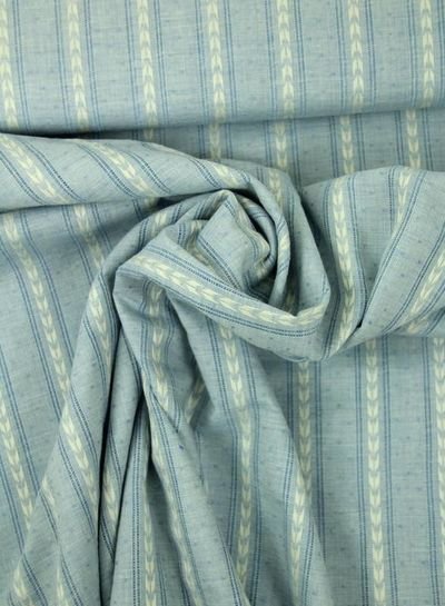 blue cotton with linen look