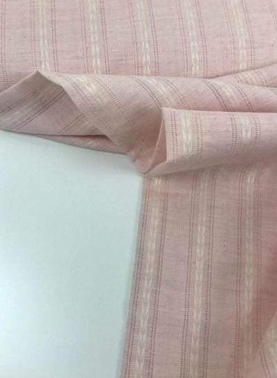 pink cotton with linen look