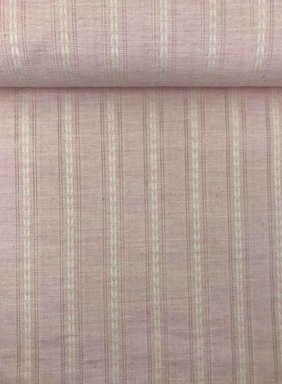 roze katoen met linnen look