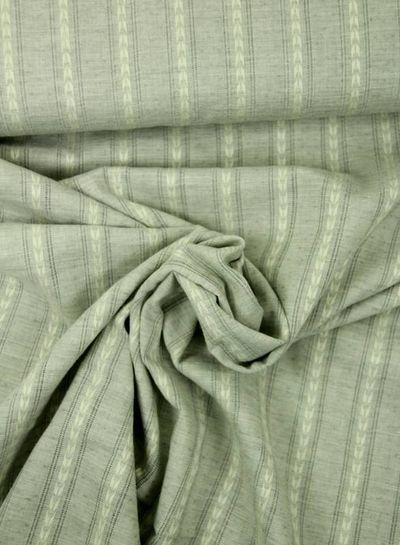 grijze katoen met linnen look